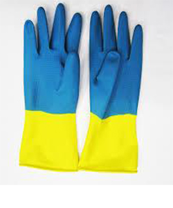 Перчатки хозяйственные с хлопковым напылением «Биколор»