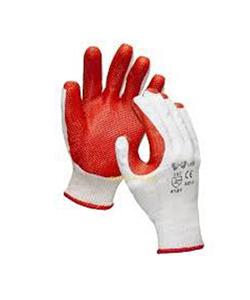 Перчатки х/б с покрытием усиленной резины «Кирпичик»