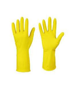 Перчатки латексные хозяйственные с хлопковым напылением