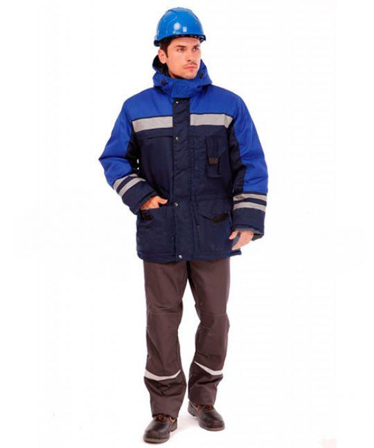 Куртка рабочая утеплённая Зима темно-синий / васильковый