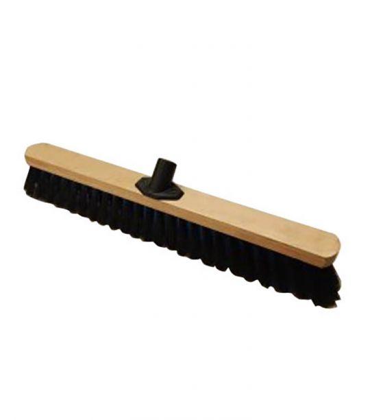 Щетка для уборки деревянная строительная 500х50x75мм, жесткий ворс (55ж/в)