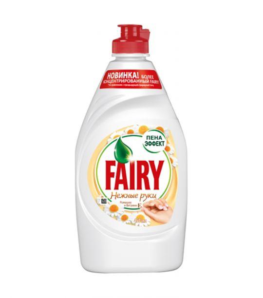 Средство для мытья посуды Fairy Нежные руки Ромашка и витамин Е 450 мл