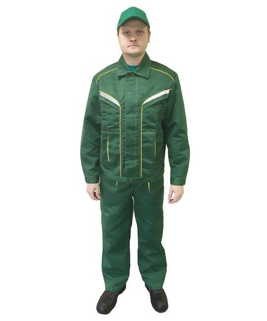 Костюм «Весна», куртка + полукомбинезон, цвет зеленый